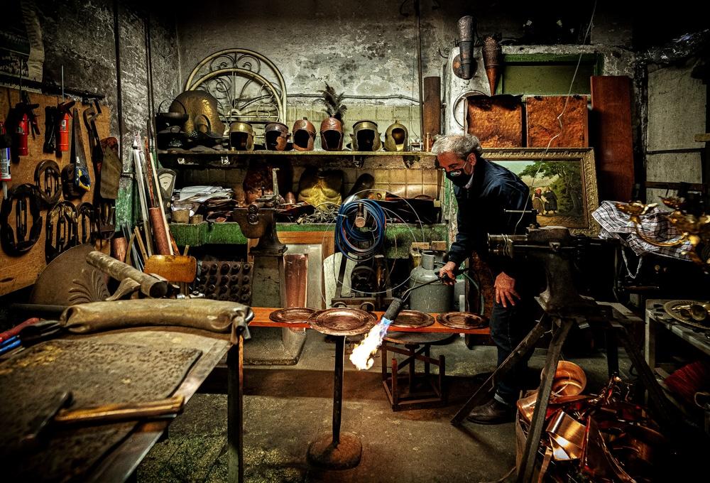 Aldo Capobianchi - Coppersmith - People at Work Contest - ArtFullFrame - artfullframe.com